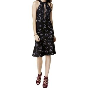 NWT Endless Rose Black Floral Halter Dress